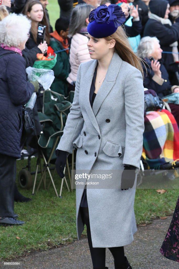 Members Of The Royal Family Attend St Mary Magdalene Church In Sandringham : ニュース写真