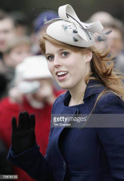 Princess Beatrice attends Christmas Day service at Sandringham Church on December 25 2006 in Kings's Lynn England