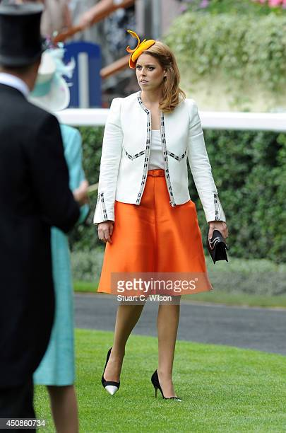 Princess Beatrice attends Day 3 of Royal Ascot at Ascot Racecourse on June 19 2014 in Ascot England