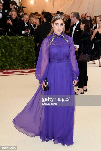 Princess Beatrice attends 'Heavenly Bodies Fashion The Catholic Imagination' Costume Institute Gala at the Metropolitan Museum of Art on May 7 2018...