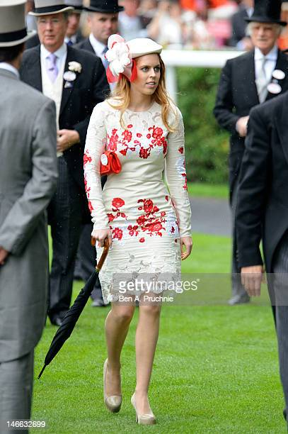 Princess Beatrice attends Ladies Day of Royal Ascot at Ascot Racecourse on June 21, 2012 in Ascot, England.