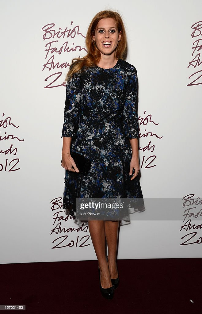 Princess Beatrice attends the British Fashion Awards 2012 at The Savoy Hotel on November 27, 2012 in London, England.