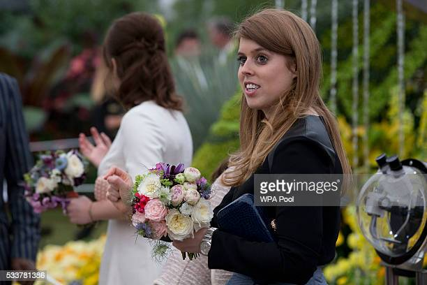 Princess Beatrice attends the Chelsea Flower Show press day at Royal Hospital Chelsea on May 23 2016 in London England The show which has run...