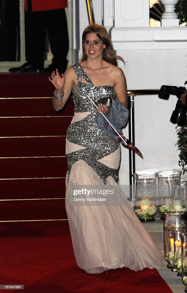 Princess Beatrice attends the pre-Royal Wedding dinner at Mandarin Oriental Hyde Park on April 28, 2011 in London, England.