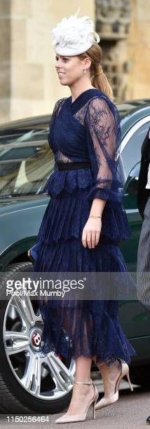 Princess Beatrice attends the wedding of Lady Gabriella Windsor and Thomas Kingston at St George's Chapel on May 18 2019 in Windsor England