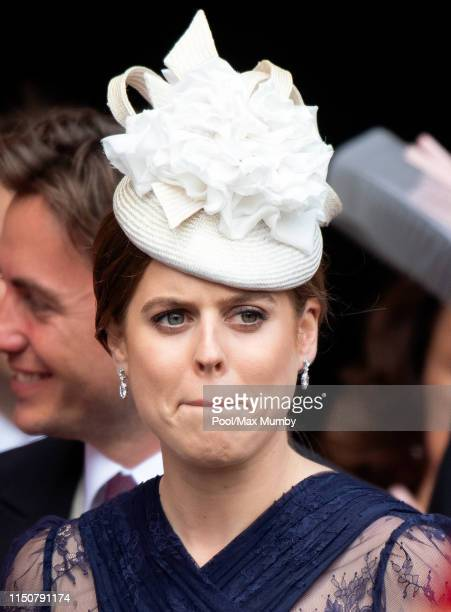 Princess Beatrice attends the wedding of Lady Gabriella Windsor and Thomas Kingston at St George's Chapel on May 18, 2019 in Windsor, England.