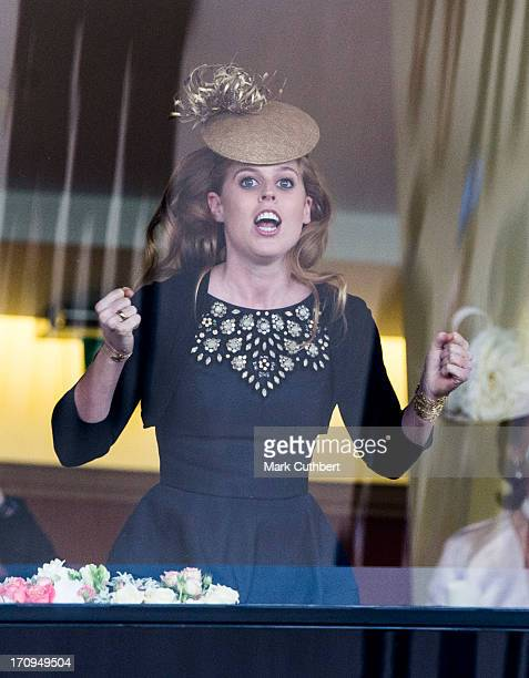 Princess Beatrice cheers on the Queens horse Estimate to win The Gold Cup on Ladies Day on Day 3 of Royal Ascot at Ascot Racecourse on June 20 2013...
