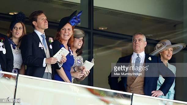 Princess Beatrice Dave Clark Sarah Ferguson Duchess of York Princess Eugenie Prince Andrew Duke of York and Catrina Skepper Countess GuerriniMaraldi...