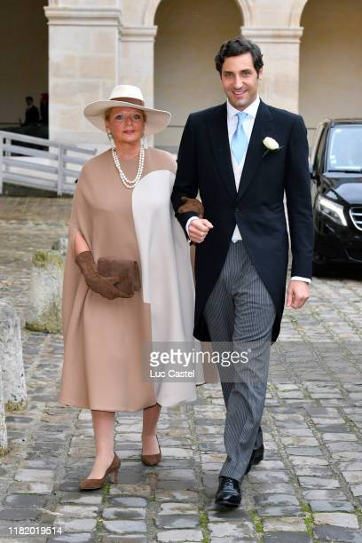 Princess Beatrice de Bourbon Siciles and her son Prince JeanChristophe Napoleon attend the Wedding of Prince JeanChristophe Napoleon and Olympia Von...