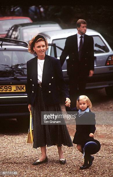 Princess Beatrice First Day At Upton House Nursery School With Her Mother