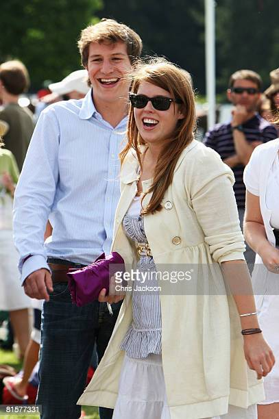 Princess Beatrice is seen with Dave Clark her boyfriend at the Vivari Queens Cup Final at Guards Polo Club on June 15 2008 in Windsor England