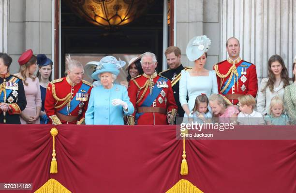 Princess Beatrice Lady Louise Windsor Prince Andrew Duke of York Queen Elizabeth II Meghan Duchess of Sussex Prince Charles Prince of Wales Prince...