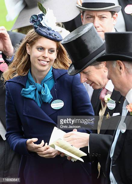Princess Beatrice looks at horses in the Parade ring on Ladies Day at Royal Ascot at Ascot Racecourse on June 14, 2011 in Ascot, United Kingdom.