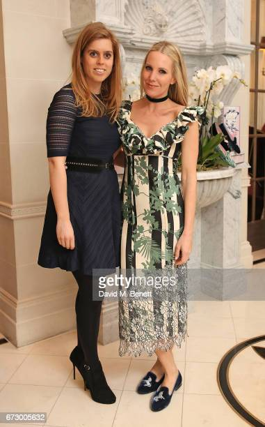 Princess Beatrice of York and Alice NaylorLeyland attend a VIP dinner celebrating Mrs Alice for French Sole at The Connaught Hotel on April 25 2017...