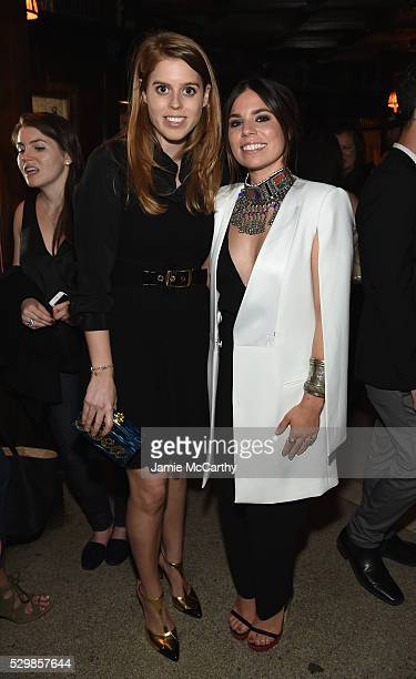 Princess Beatrice of York and author Ally Hilfiger attend the launch of Ally Hilfiger's book 'Bite Me' hosted by Ally And Tommy Hilfiger at The Jane...