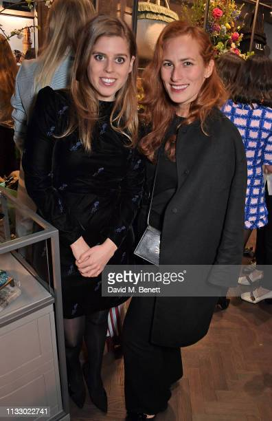 Princess Beatrice of York and Charlotte Dellal attend the launch of the second collaboration between Misela Alice NaylorLeyland in time for the...