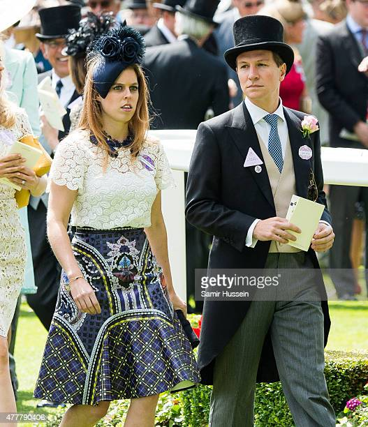 Princess Beatrice of York and Dave Clark attend day 4 of Royal Ascot at Ascot Racecourse on June 19 2015 in Ascot England