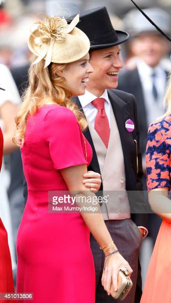 Princess Beatrice of York and Dave Clark attend Day 5 of Royal Ascot at Ascot Racecourse on June 21 2014 in Ascot England