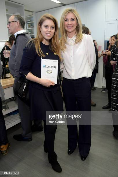 Princess Beatrice of York and Dr Holly Branson at the 'WEconomy' book launch on March 21 2018 in New York City