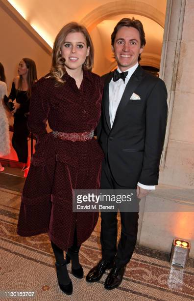 Princess Beatrice of York and Edoardo Mapelli Mozzi attend The Portrait Gala 2019 hosted by Dr Nicholas Cullinan and Edward Enninful to raise funds...