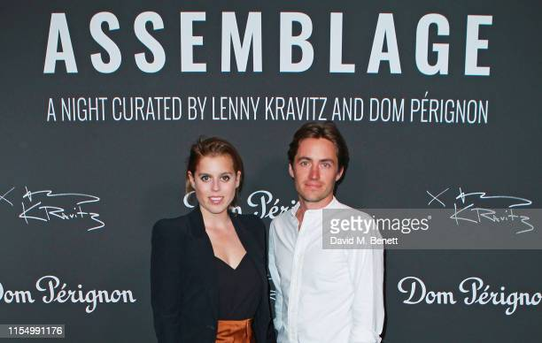Princess Beatrice of York and Edoardo Mapelli Mozzi attend the Lenny Kravitz Dom Perignon 'Assemblage' exhibition the launch Of Lenny Kravitz' UK...