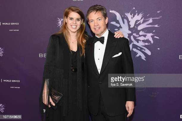 Princess Beatrice of York and Nicolas Berggruen attend the Third Annual Berggruen Prize Gala at the New York Public Library on December 10 2018 in...