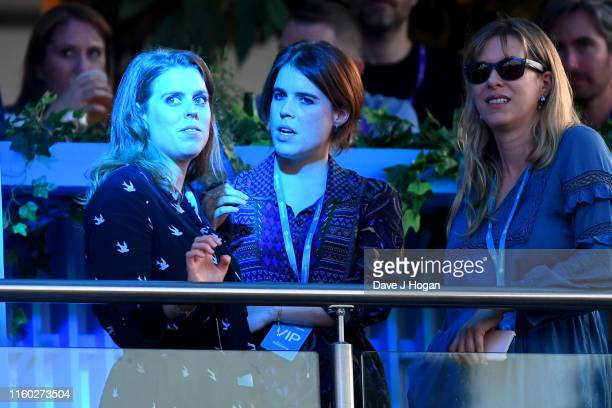 Princess Beatrice of York and Princess Eugenie attend Barclaycard Presents British Summer Time Hyde Park at Hyde Park on July 05, 2019 in London,...