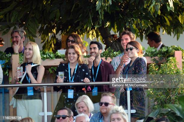 Princess Beatrice of York and Princess Eugenie of York attend Barclaycard Exclusive area at Barclaycard presents British Summer Time Hyde Park on...