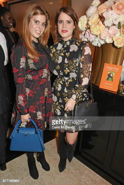 Princess Beatrice of York and Princess Eugenie of York attend Louis Vuittons Celebration of GingerNutz in Vogue's December Issue on November 21 2017...