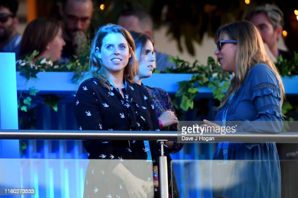 Princess Beatrice of York and Princess Eugenie of York attend Barclaycard Presents British Summer Time Hyde Park at Hyde Park on July 05, 2019 in...