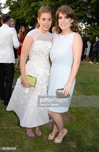 Princess Beatrice of York and Princess Eugenie of York attend The Serpentine Gallery Summer Party cohosted by Brioni at The Serpentine Gallery on...