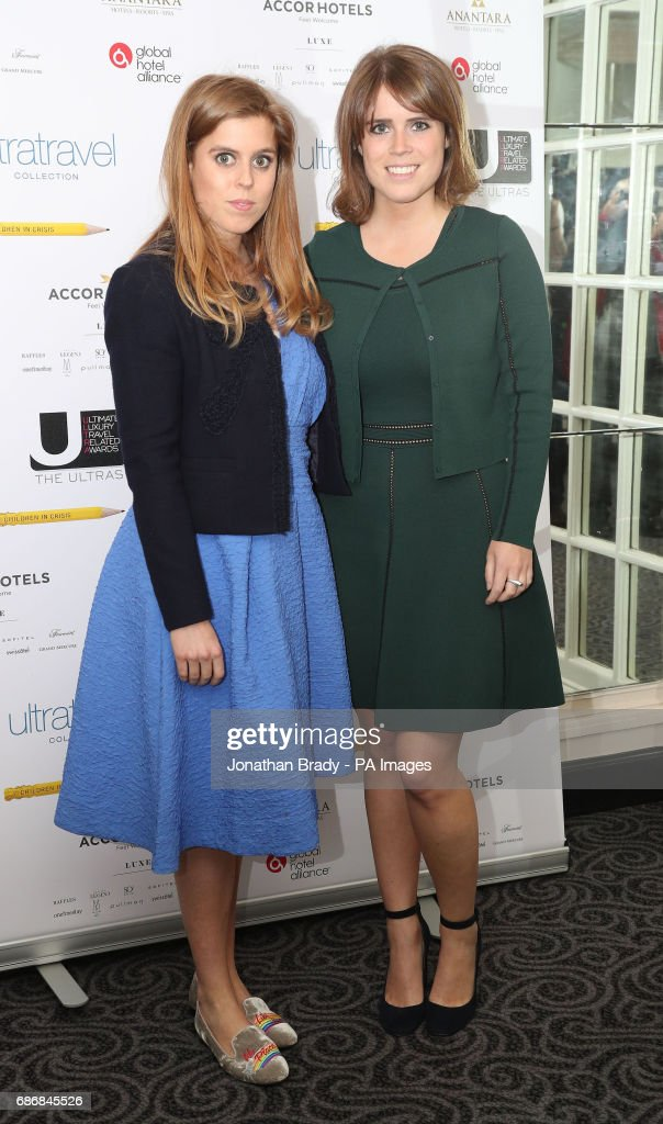 Princess Beatrice of York (left) and Princess Eugenie of York attend the Ultimate Luxury Travel Related Awards at the Savoy Hotel, London.