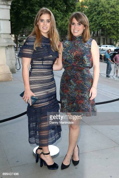 Princess Beatrice of York and Princess Eugenie of York attend the VA summer party at The VA on June 21 2017 in London England