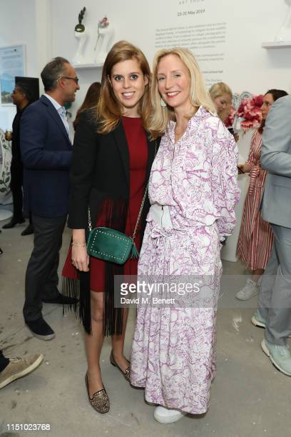 Princess Beatrice of York and Ruth Ganesh at the Animal Ball Art Show Private Viewing presented by Elephant Family on May 22 2019 in London England