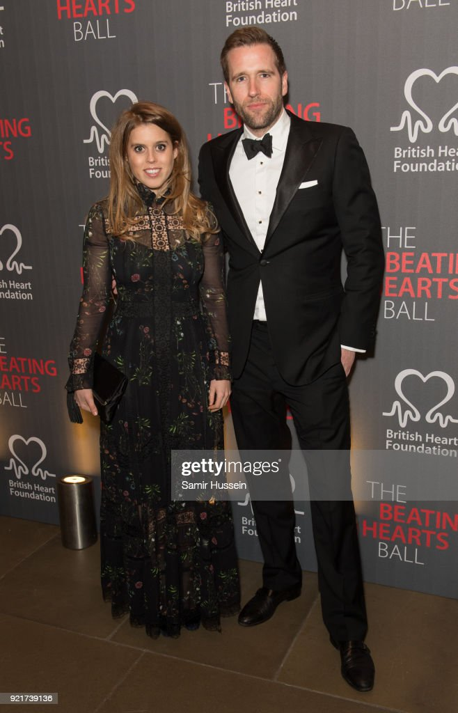 Princess Beatrice of York and Wilfred Frostattend the British Heart Foundation's 'The Beating Hearts Ball' at The Guildhall on February 20, 2018 in London, England.