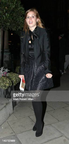 Princess Beatrice of York at Harry's restaurant on March 5 2012 in London England
