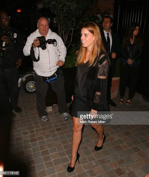 Princess Beatrice of York at the Chiltern Firehouse on June 24 2014 in London England