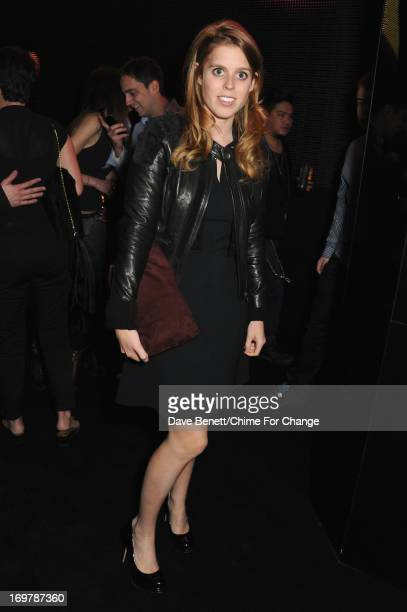 Princess Beatrice of York attend the after show party following the 'Chime For Change The Sound Of Change Live' Concert at Twickenham Stadium on June...