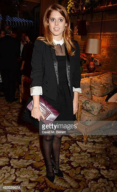 Princess Beatrice of York attend the book launch party for How Google Works by Eric Schmidt and Jonathan Rosenberg hosted by Jamie Reuben at The...