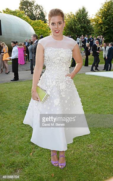 Princess Beatrice of York attend The Serpentine Gallery Summer Party cohosted by Brioni at The Serpentine Gallery on July 1 2014 in London England