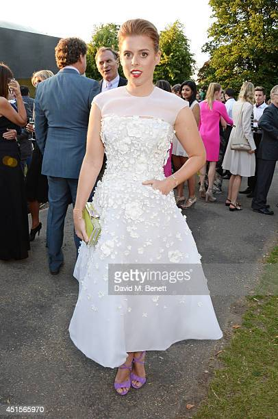 Princess Beatrice of York attend The Serpentine Gallery Summer Party co-hosted by Brioni at The Serpentine Gallery on July 1, 2014 in London, England.