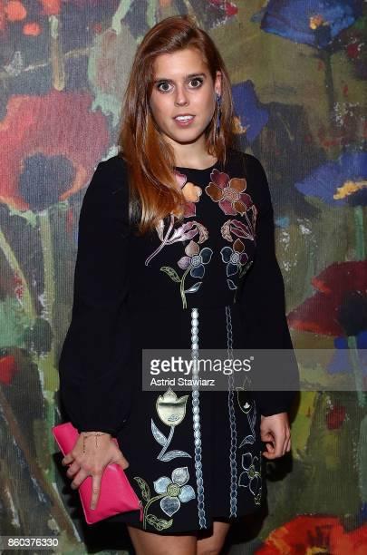 Princess Beatrice of York attends 2017 Take Home A Nude Art party and auction at Sotheby's on October 11 2017 in New York City