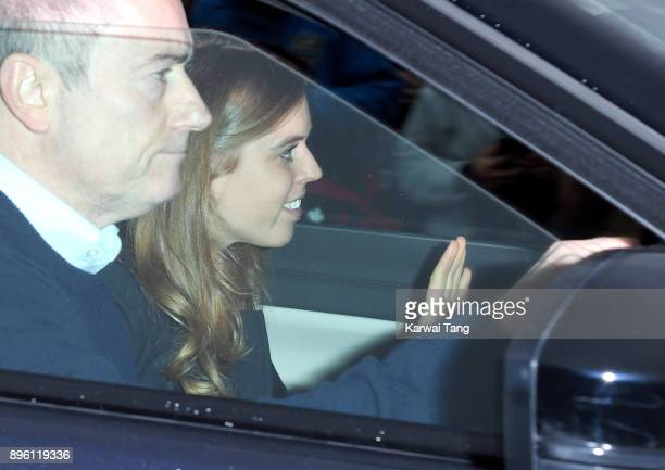 Princess Beatrice of York attends a Christmas lunch for the extended Royal Family at Buckingham Palace on December 20 2017 in London England