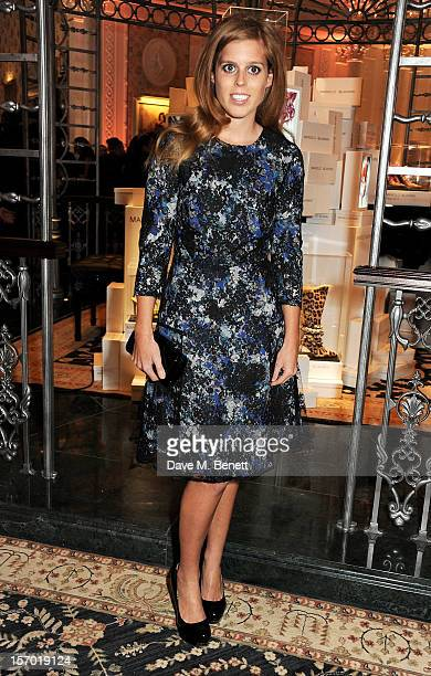 Princess Beatrice of York attends a drinks reception at the British Fashion Awards 2012 at The Savoy Hotel on November 27, 2012 in London, England.
