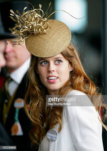 Princess Beatrice of York attends day 5 of Royal Ascot at Ascot Racecourse on June 19 2010 in Ascot England