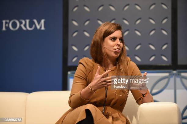 Princess Beatrice of York attends day two of Web Summit 2018 the global technology conference hosted annually on November 7 2018 in Lisbon Portugal...