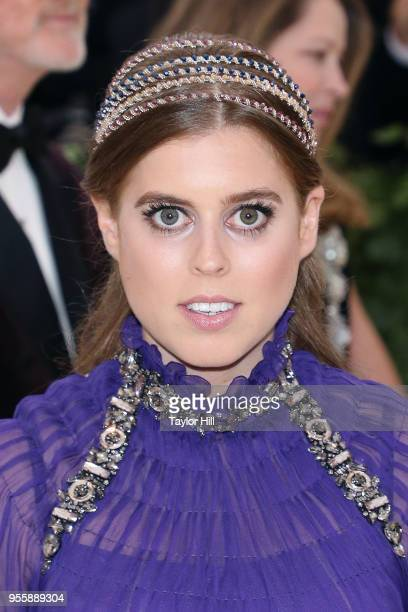 Princess Beatrice of York attends Heavenly Bodies Fashion the Catholic Imagination the 2018 Costume Institute Benefit at Metropolitan Museum of Art...