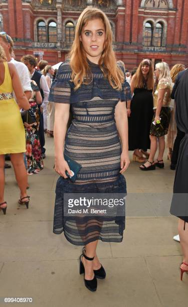 Princess Beatrice of York attends the 2017 annual VA Summer Party in partnership with Harrods at the Victoria and Albert Museum on June 21 2017 in...