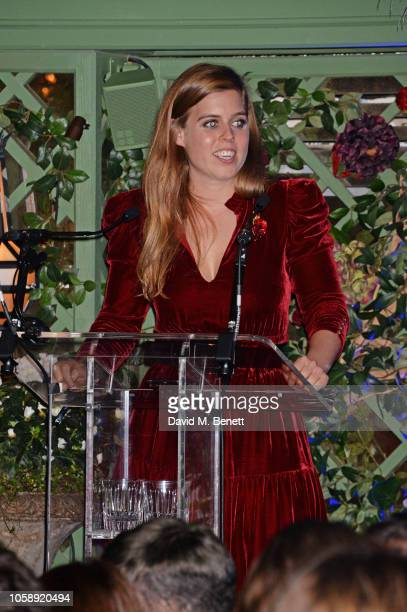 Princess Beatrice of York attends the Annabel's Art Auction fundraiser in aid of Teenage Cancer Trust Teen Cancer America at Annabel's on November 7...
