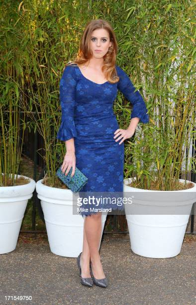 Princess Beatrice of York attends the annual Serpentine Gallery summer party at The Serpentine Gallery on June 26 2013 in London England